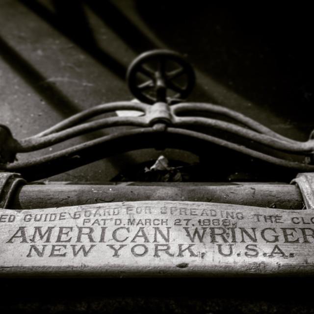 """The Wringer"" stock image"