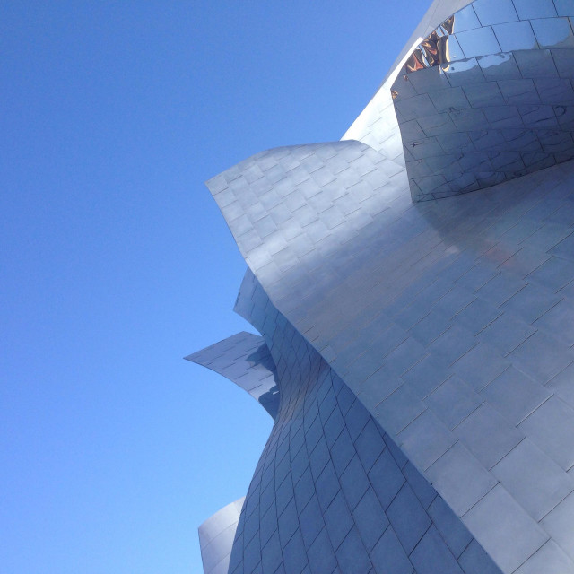 """Detail of Walt Disney Concert Hall in Los Angeles"" stock image"