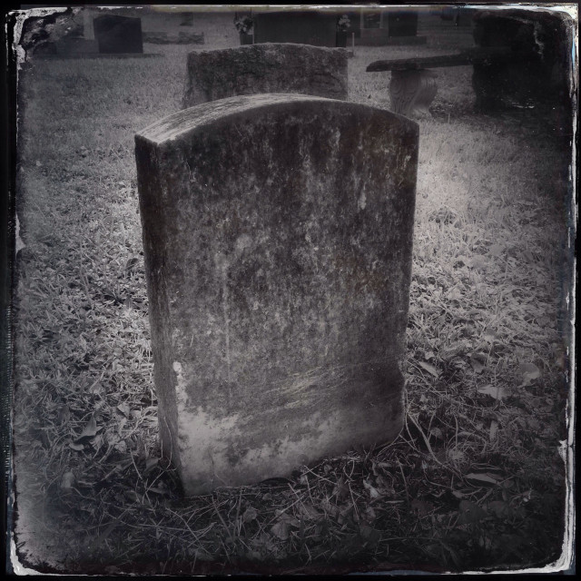 """""""Tombstone in a cemetery"""" stock image"""