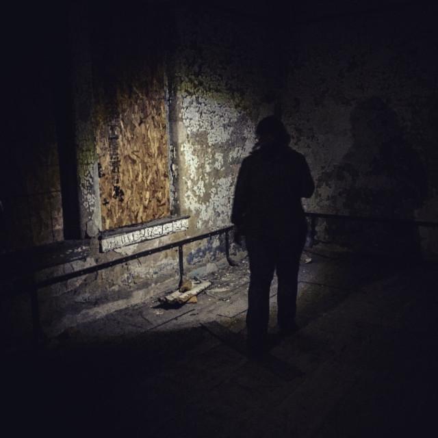 """Haunted asylum"" stock image"