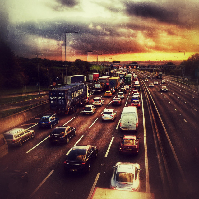 """""""M1. Southbound gridlock"""" stock image"""