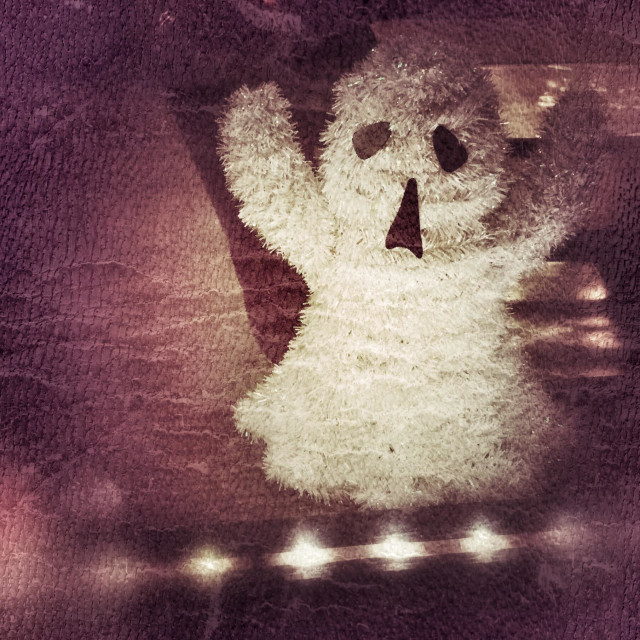 """""""Ghost decoration in a window"""" stock image"""