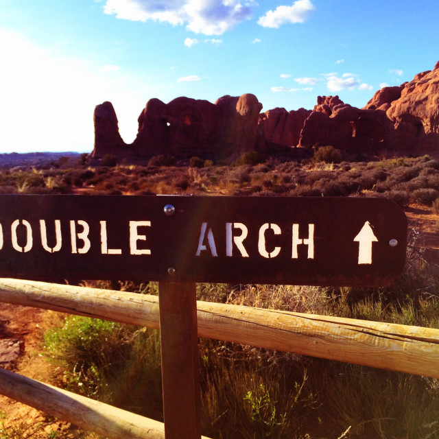 """""""Double Arch"""" stock image"""