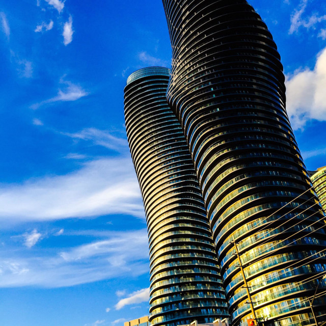 """Marilyn Monroe condominium towers"" stock image"