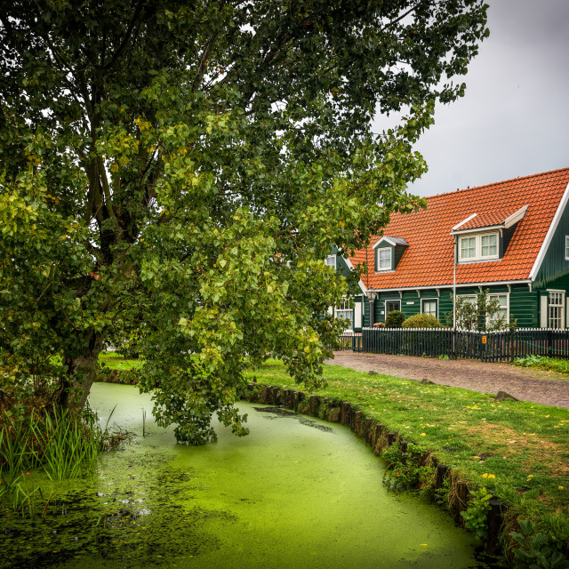 """Amsterdam Farm Cottage"" stock image"