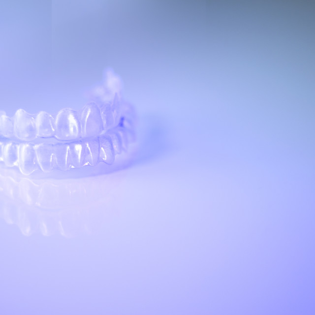"""Invisible dental retainers. Correction alignment denture."" stock image"