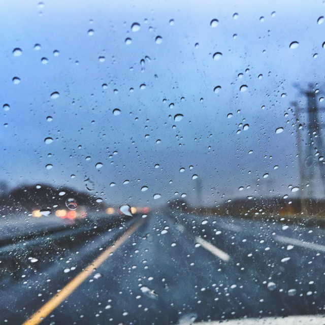 """""""Road trip with some rain"""" stock image"""