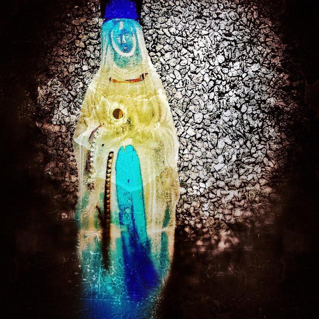 """""""Virgin Mary bottle"""" stock image"""