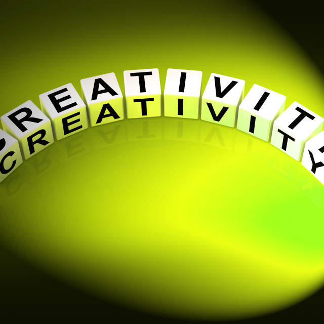 """""""Creativity Letters Mean Inventiveness Inspiration And Ideas"""" stock image"""
