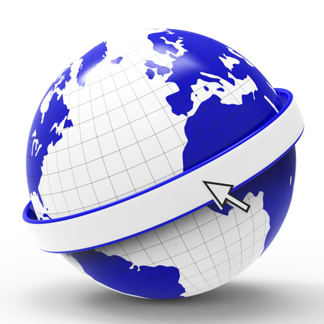"""Copyspace World Represents Globalise Globalisation And Planet"" stock image"