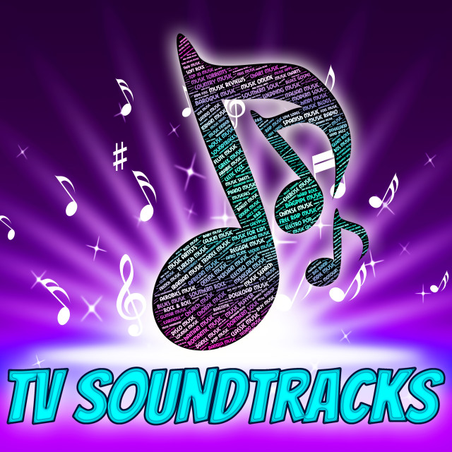 """""""Tv Soundtracks Indicates Video Game And Harmony"""" stock image"""