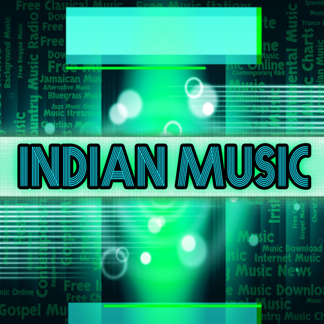 """""""Indian Music Means Sound Track And Audio"""" stock image"""