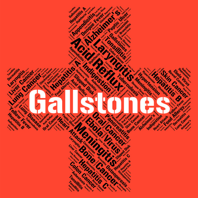 """""""Gallstones Word Represents Ill Health And Afflictions"""" stock image"""