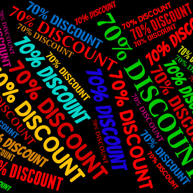 """Seventy Percent Off Shows Retail E-Commerce And Discount"" stock image"