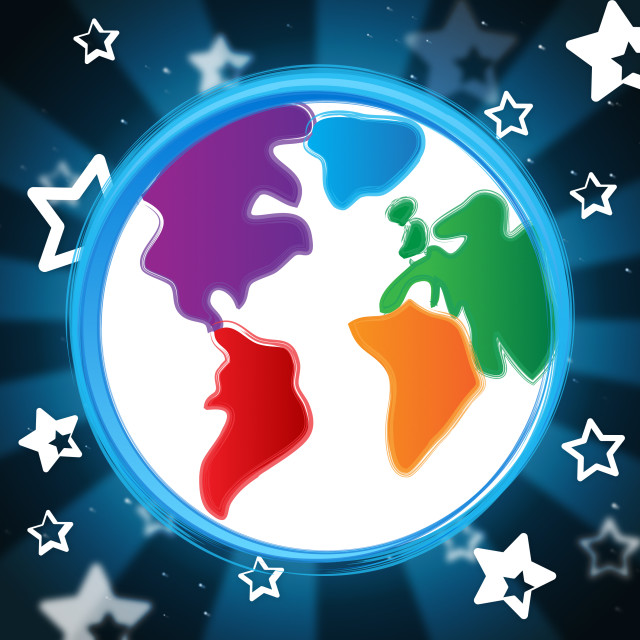 """Background Globe Indicates Globalisation Backdrop And Abstract"" stock image"