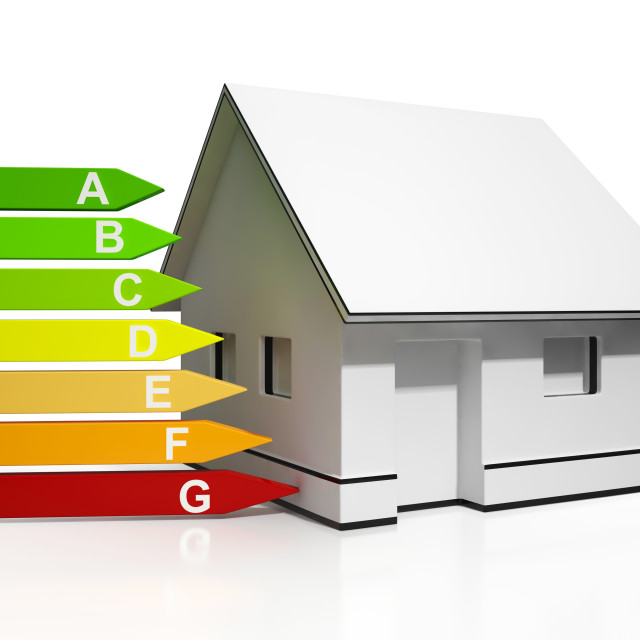 """""""Energy Efficiency Rating And House Showing Conservation"""" stock image"""