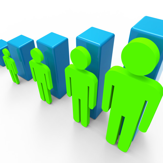 """Population Increase Indicates Group Up And Success"" stock image"
