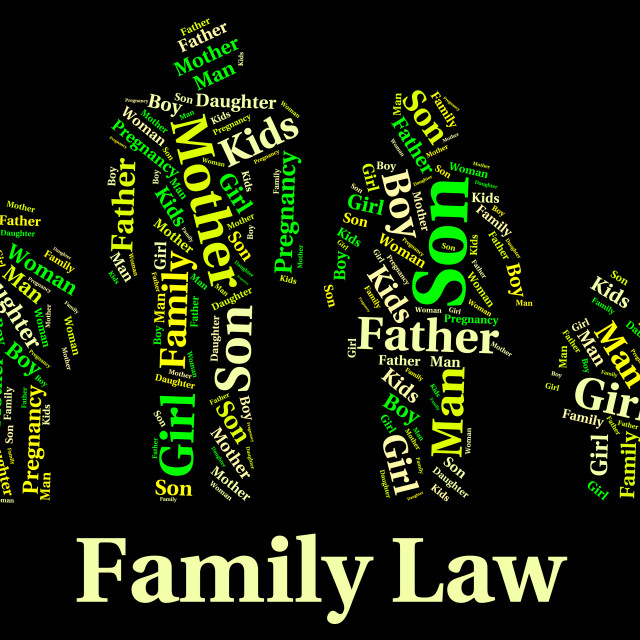 """""""Family Law Represents Blood Relation And Attorney"""" stock image"""