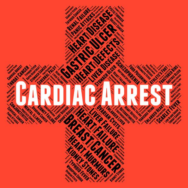 """Cardiac Arrest Indicates Congestive Heart Failure And Affliction"" stock image"