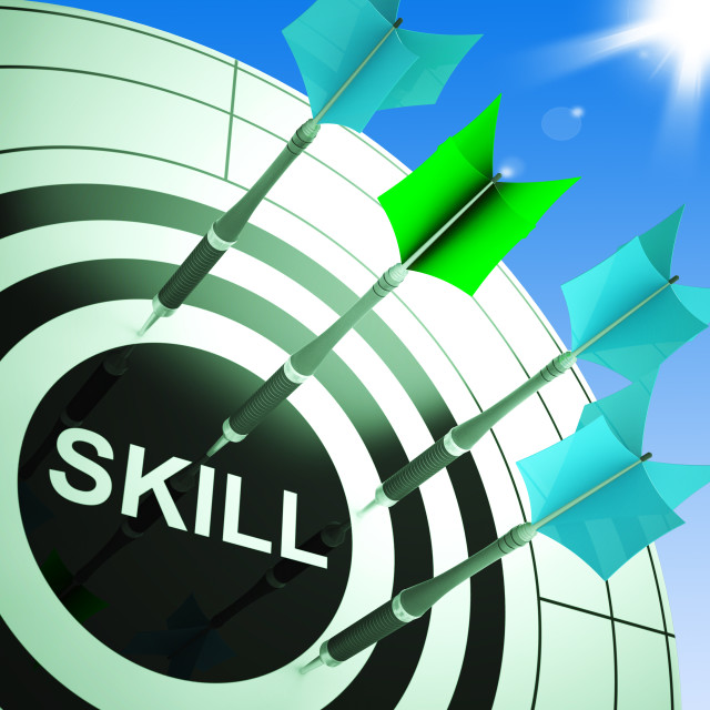 """Skill On Dartboard Showing Expertise"" stock image"