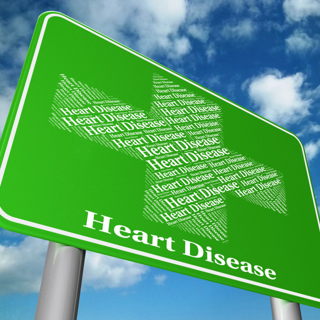 """""""Heart Disease Indicates Ill Health And Chf"""" stock image"""
