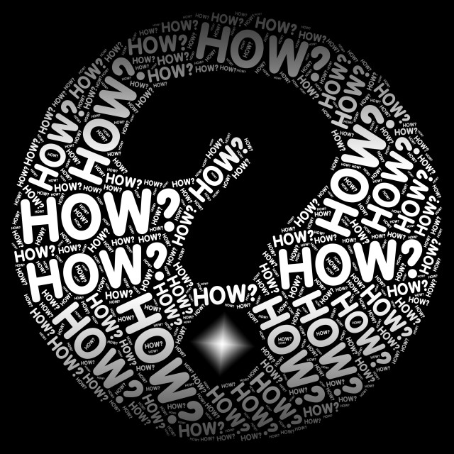 """""""How Question Mark Shows Not Sure And Uncertainty"""" stock image"""