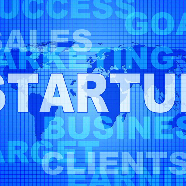 """""""Startup Words Means Self Employed And Entrepreneur"""" stock image"""