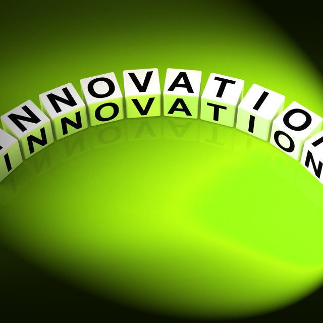 """""""Innovation Letters Mean Improvements And New Developments"""" stock image"""