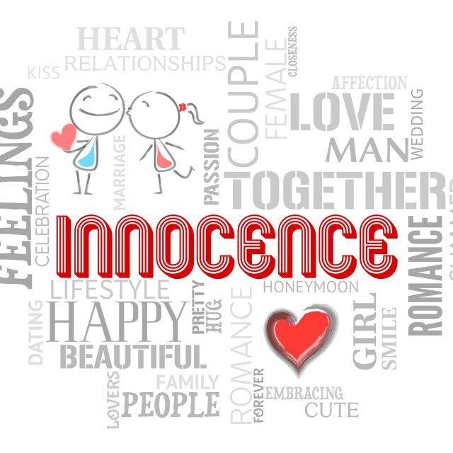 """""""Innocence Words Indicates Purity Virtue And Naive"""" stock image"""