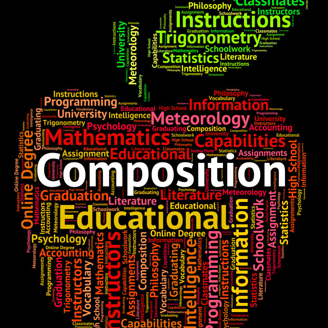 """Composition Word Represents Literary Work And Creation"" stock image"