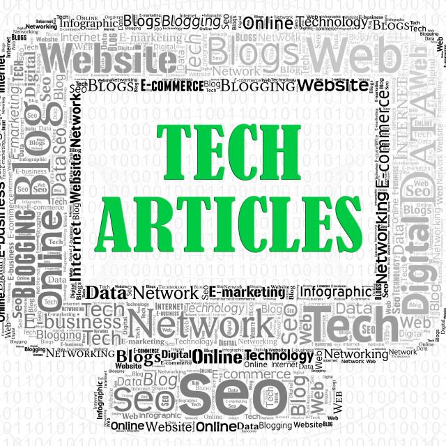 """Tech Articles Indicates Magazines Computing And Publish"" stock image"
