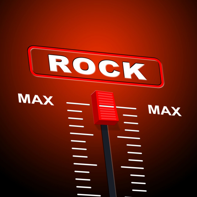 """""""Rock And Roll Indicates Acoustic Sound And Audio"""" stock image"""