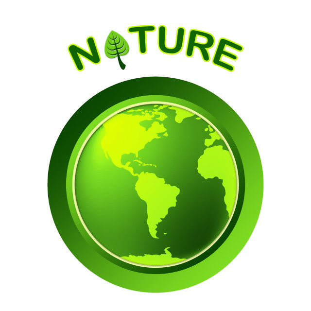 """Globe Natural Shows Globalize Earth And Worldwide"" stock image"