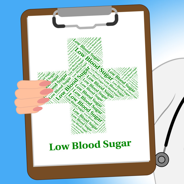 """""""Low Blood Sugar Shows Poor Health And Afflictions"""" stock image"""