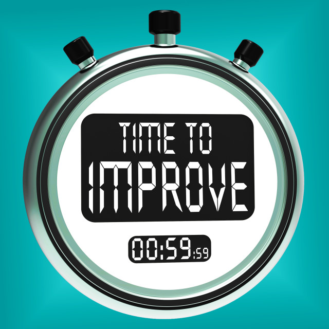 """Time To Improve Message Means Progress And Improvement"" stock image"
