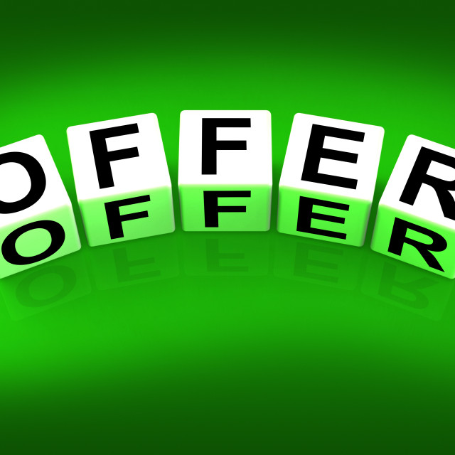 """""""Offer Blocks Mean Promote Propose and Submit"""" stock image"""
