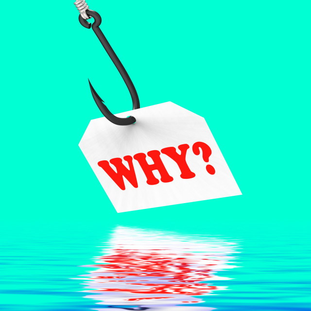 """""""Why? On Hook Displays Uncertainty Or Confusion"""" stock image"""