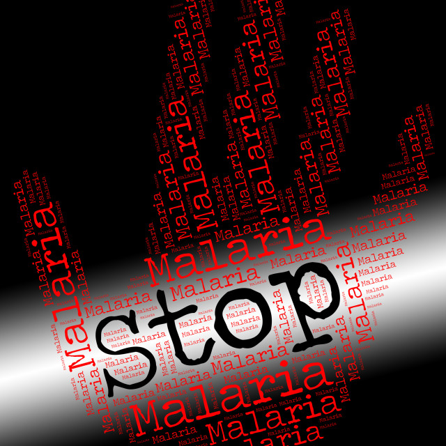 """""""Stop Malaria Represents No Stops And Stopped"""" stock image"""