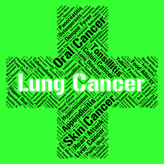 """""""Lung Cancer Means Poor Health And Attack"""" stock image"""