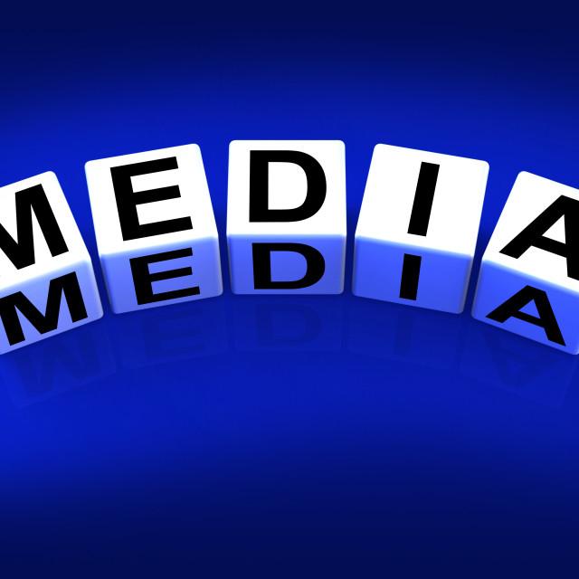 """Media Blocks Refer to Radio TV Newspapers and Multimedia"" stock image"