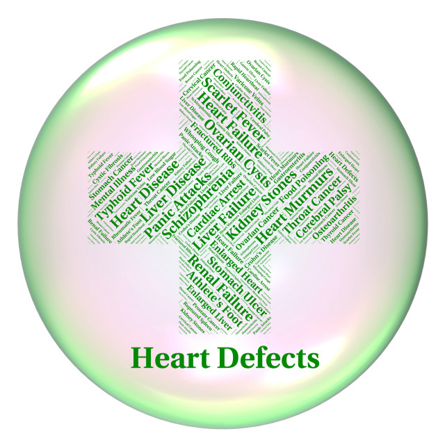 """""""Heart Defects Means Anomaly Blemish And Errors"""" stock image"""