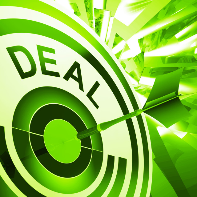 """Deal Means Bargain Or Partnership Agreement"" stock image"