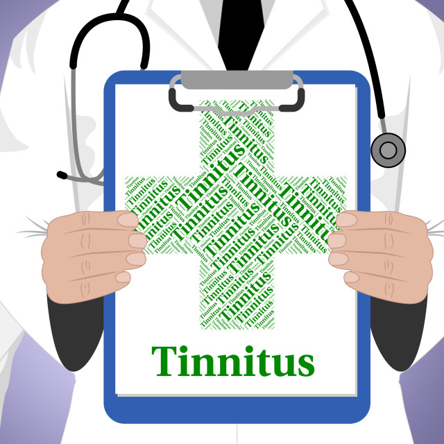 """""""Tinnitus Word Represents Ill Health And Afflictions"""" stock image"""