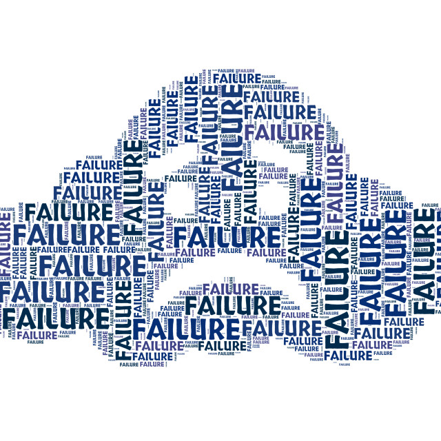 """""""Failure Word Represents Lack Of Success And Defeat"""" stock image"""