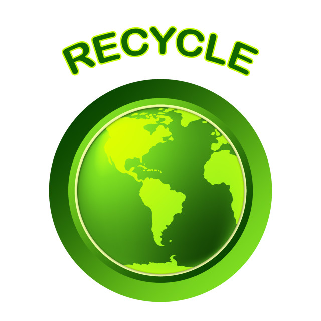 """World Recycle Shows Eco Friendly And Conservation"" stock image"
