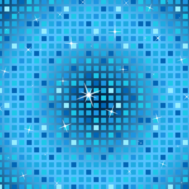 """Blue Squares Background Shows Light Glinting And Celebration."" stock image"