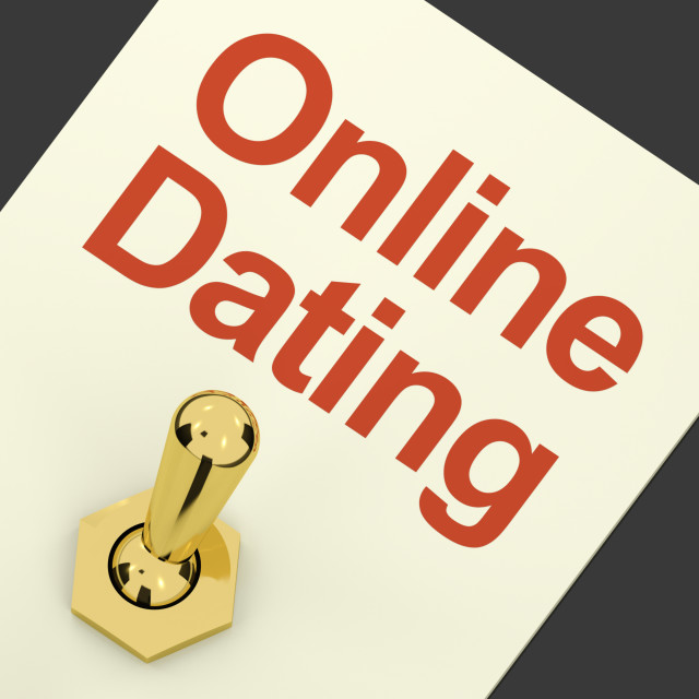 """Online Dating Switch On Showing Romance And Love"" stock image"