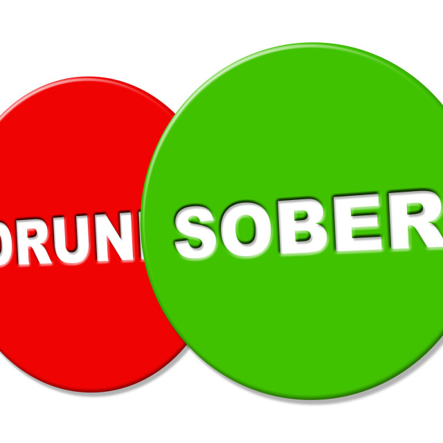 """Sober Sign Means Clear Headed And Advertisement"" stock image"