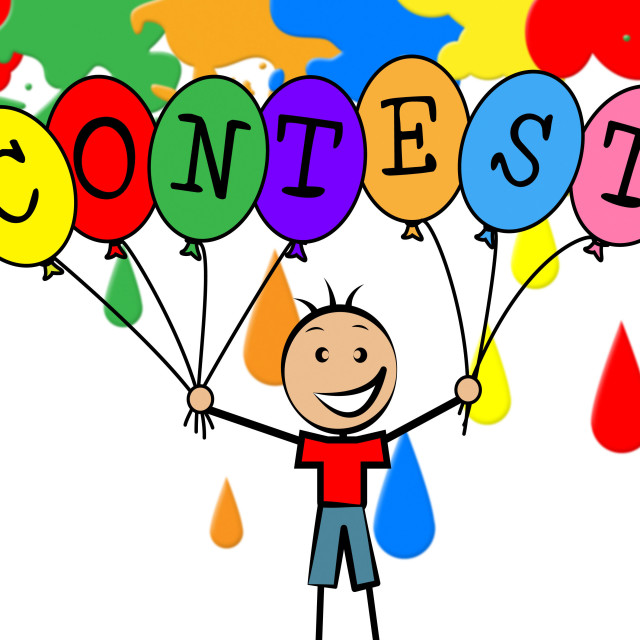 """Contest Balloons Shows Youngster Children And Decoration"" stock image"