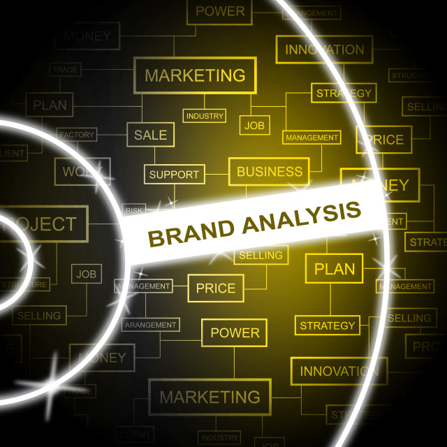 """Brand Analysis Represents Company Identity And Analyst"" stock image"